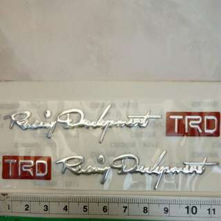 Toyota TRD vios altis myvi visor air press window 3d logo