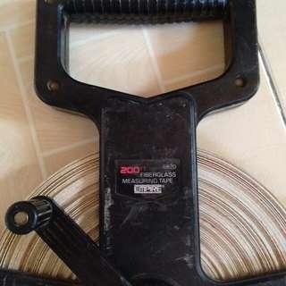 200ft.  fiber glass measuring tape