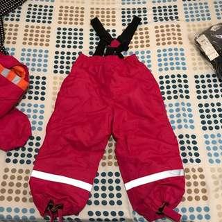 全新 兒童 滑雪🏂套裝 100cm 合4-5歲 女童 風衣 滑雪褲 outdoor
