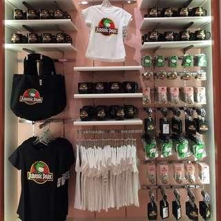Hello Kitty x Jurassic Park merchandise