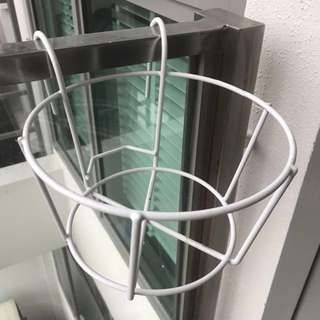 Plant stand balcony metal hook hang flower pot holder rack