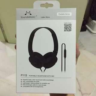 Soundmagic P11S Portable Headphones w mic (new and unused)