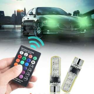 RGB Led Wedge Side Light Reading Lamp Bulb + Remote control