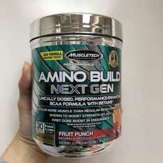 MuscleTech AMINO BUILD Next Gen BCAA 支鏈胺基酸 30份