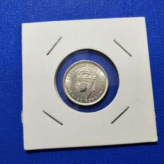 Strait settlement silver coin 10 cent 1943