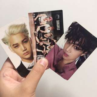 OFFICIAL BTS AND EXO PHOTOCARDS