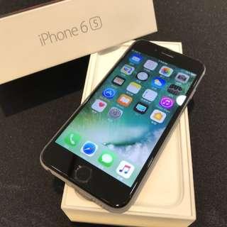 無傷 灰色iPhone6S 64G已更換認證電池 盒裝附 全新充電頭 倍思傳輸線(不議價)高雄鳳山可面交
