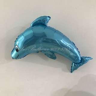 Dolphin sea aquarium foil balloon - blue / grey/ pink