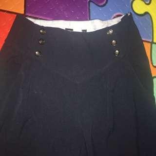 High waist trouser Navy Blue