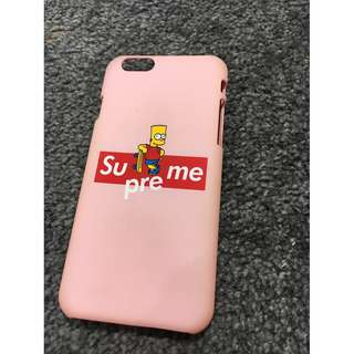 Supreme Bart Simpson iphone 6/6s case
