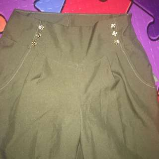 High waist trousers- Olive green