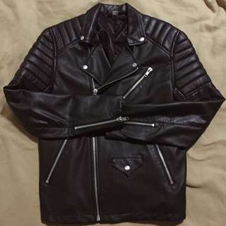 H&M Black Motorcycle Leather Jacket