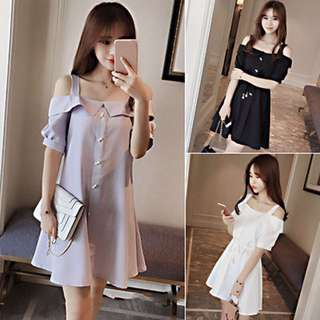 PO 2minggu korean dress off shoulder