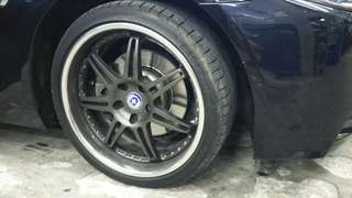 "Original 19"" HRE forge sport rims"