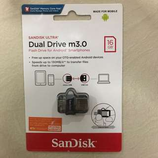 Sandisk dual drive USB type-C thumb drive 16GB