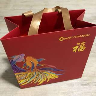 Bank of Singapore Red Packet 2018 bag
