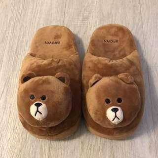 Line friend slippers