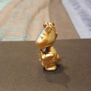Prosperity horse. Gold plated.