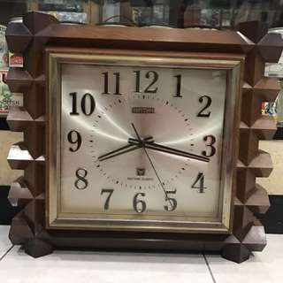 Vintage Rhythm Clock with Unique Starter Switch & Spare Battery Box
