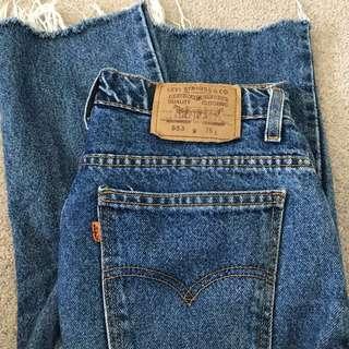 Dark wash vintage Levi jeans