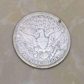 1914年 美國 quarter 25 cents 銀幣