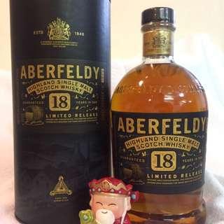 艾柏迪 18年 高地 單一純麥威士忌 1L Aberfeldy 18 Year Old Highland Single Malt Whisky