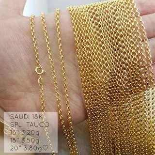 Chain in 18K Saudi Gold