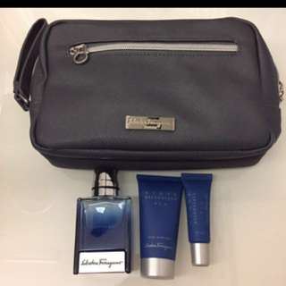 SIA Salvatore Ferragamo Toiletry Pouch with Perfume SQ