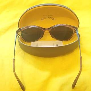 Vivienne Westwood 玫瑰紅框藍鏡面太陽眼鏡