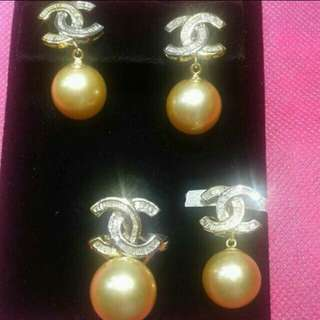 Authentic South Sea Pearls with Real Gold and Diamonds