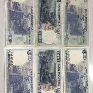 old notes - Indonesia 1000
