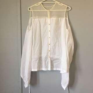 Womens Sass & Bide 14 Swing White Shirt