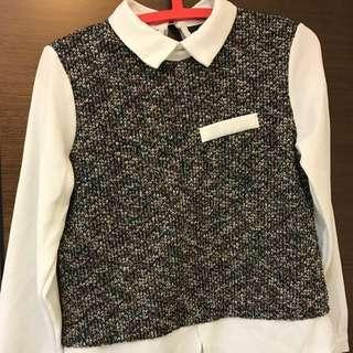 學院風針織襯衫