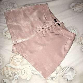 F21 Satin Shorts