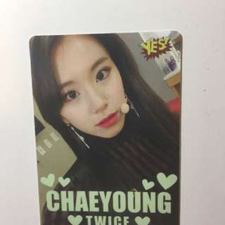 CHAEYOUNG TWICE Yes 卡 夜光 包郵