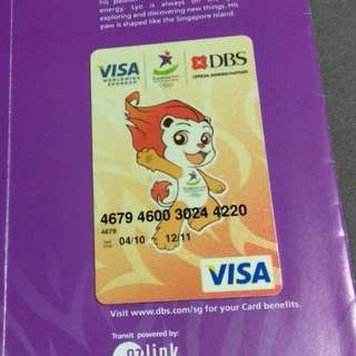 Singapore 2010 Youth Olympic Games DBS Visa Prepaid Card