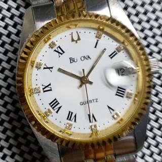 瑞士保路華金鋼中古錶,較到針較到日曆,唔行,錶頭36mm不連錶的,當零件賣,淨錶壹隻$120,有意請pm