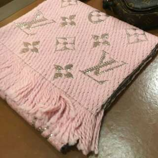 New LV Wool Scarf Pink♥
