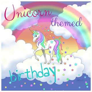 Unicorn Themed Birthday Party Deco