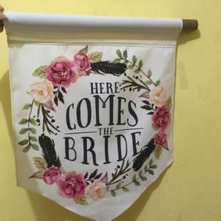 Flag here come bride