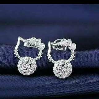 Hello Kitty silver earrings