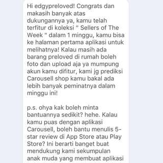 Carousell Best Seller of The Week