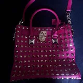 Pink Michael Kors Studded Bag
