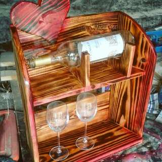 Wooden rack mini bar