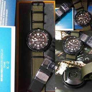 Seiko SBBN013 MarineMaster Professional 1000m Diver Watch 48mm 7C46 Quartz Darth Tuna