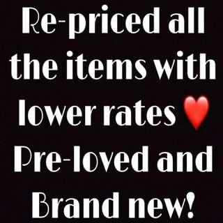 Re-priced all the items!! Please check and message me if you're interested ❤️