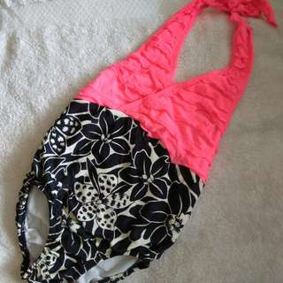 Hot pink kids swimsuit.  Repriced!