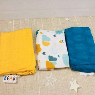 Tula blanket nimbus - solid blue and yellow only
