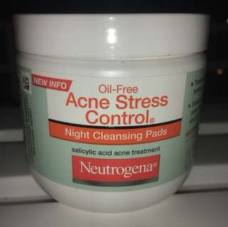 NUTROGENA ACNE STRESS CONTROL CLEANSING PADS