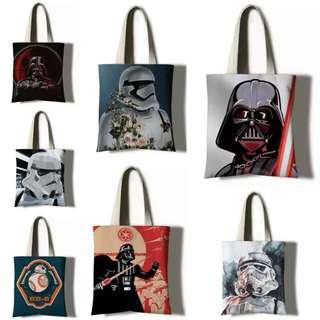 $179 tote bag 布袋 星球大戰 star wars bb8 白兵 黑武士 stormtrooper darth vader